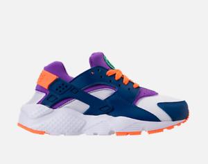 ed092840d4c7 New Nike Youth Huarache Run GS Shoes (654275-111) White  Cone-Gym ...