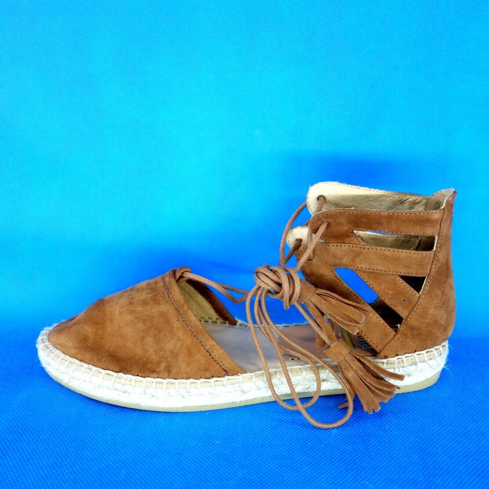 Kanna Women's Summer shoes Sandals Espardilles KV7003 Size 37 40 Leather Np 120