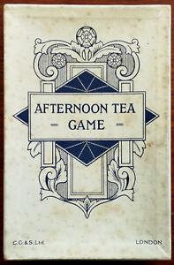 Jeu de thé de l'après-midi.   Jeux de cartes d'époque C. G. & S. Ltd. (chas Goodall And Son)