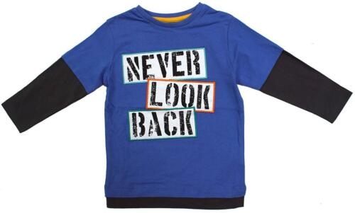 Boys T-Shirt Never Look Back Motif Skate Sleeve Tee Cotton Top 1½  to 6 Years