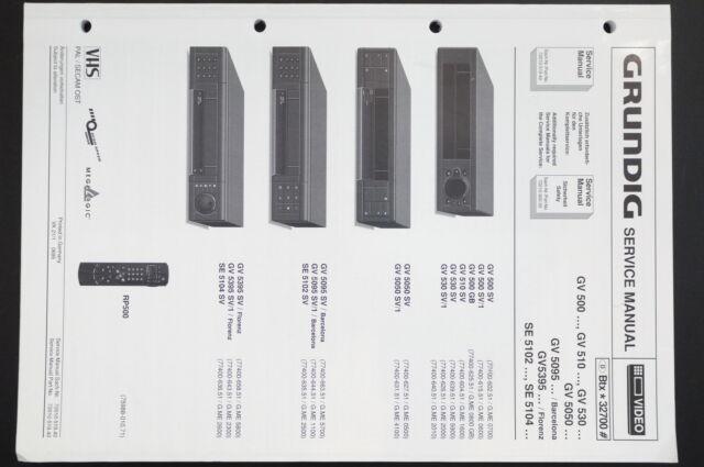 Grundig Gv 500   510  530  5050  5095 Original Service Manual