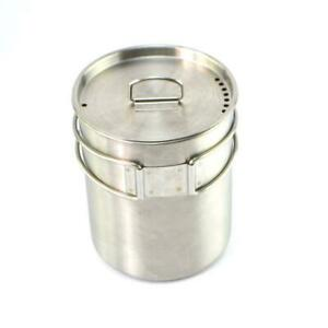 Outdoor-Stainless-Steel-Camping-Cup-Pot-Bowl-Backpacking-Travel-Cup