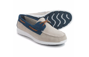 Sperry Sojourn Leather Oyster-Navy 2 Eye Men's Boat shoes 9.5 (New)