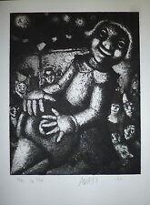 Mario Avati gravure originale 1951 signée numérotée Art Abstrait