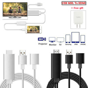 best website 7c3f1 79f13 Details about Mini USB MHL To HDMI 1080P TV Adapter Cable For iPhone 8 7  Samsung Galaxy S8 S7