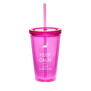 16oz Double Wall Acrylic Tumbler Mug Cup W Straw Keep