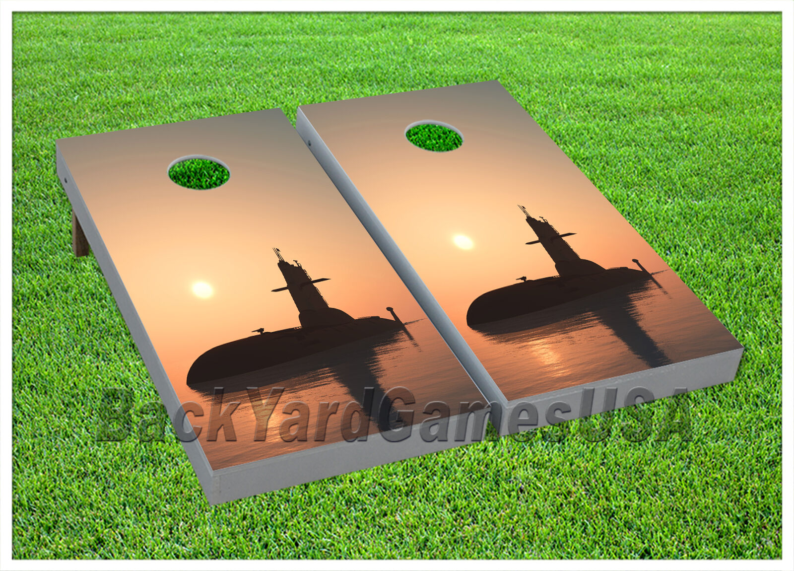 CORNHOLE BEANBAG TOSS GAME  USA Navy Submarine w Bags  Game Boards Set 1062  cheap