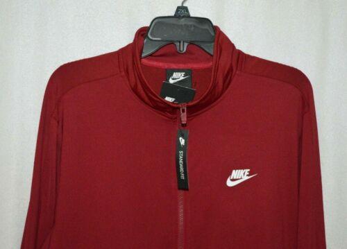 L//XL//XXL Nike Sportwear Men/'s Dark Red Poly Knit FZ Track Jacket BQ2014-618