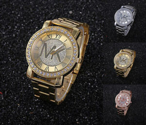 New-Fashion-Women-Men-Diamond-Crystal-Stainless-Steel-Wrist-Quartz-Watches