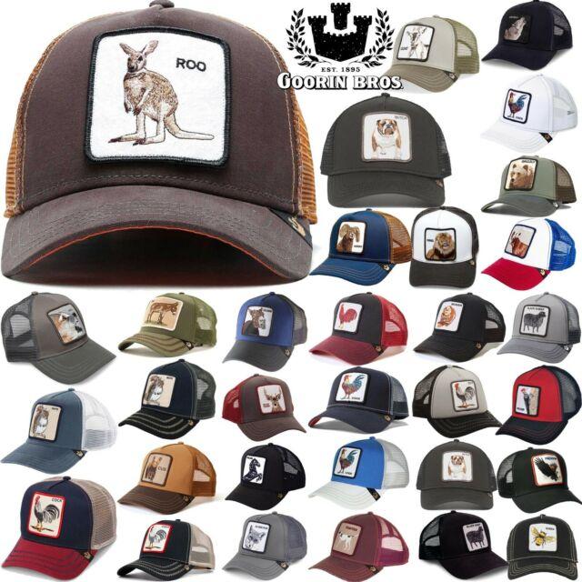 cb78c3046 GOORIN BROS TRUCKER Hat Snapback Cap ANIMAL FARM Rooster Donkey Gallo Beaver