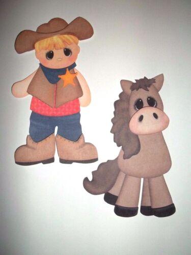 3D U Pick OCC1 Astronaut Sheriff Cowboy Cowgirl Scrapbook Card Embellishment