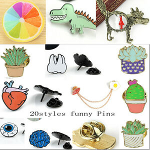 Details about Funny Cute Pins Kawaii Brooch Dress Suit Collar Corsage  Enamel Badges Jewelry AA