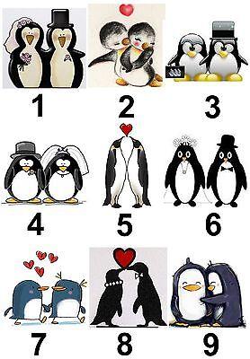 Hochzeit Mr & Mrs Penguin Groß Sticky Weiß Papier Aufkleber Etiketten Von Der Konsumierenden öFfentlichkeit Hoch Gelobt Und GeschäTzt Zu Werden