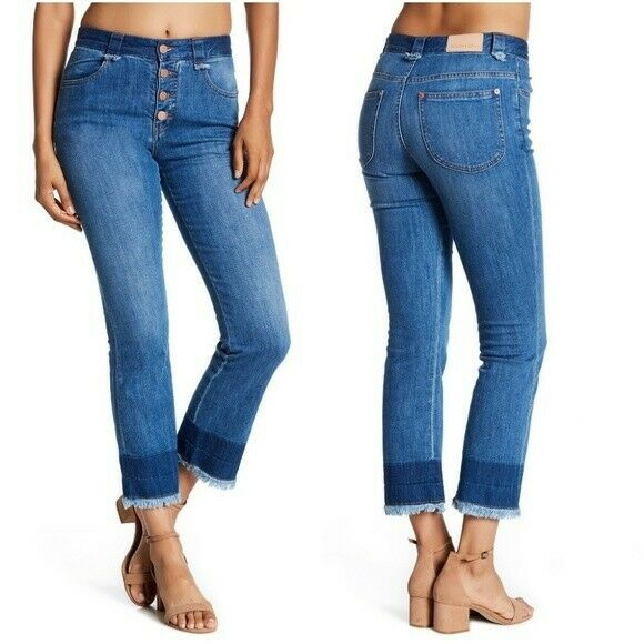 Size 25 See by Chloe Stoned Crop Jeans