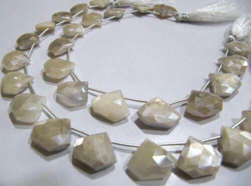 "SALE White Moonstone AB Mystic Coated Diamond Shape 15-16 To 17-18mm Beads 10/"" ."