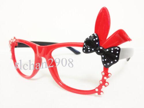 Kids//Children Bling Bling Bunny Rabbit Bow Sunglass Frames N6 No Lens
