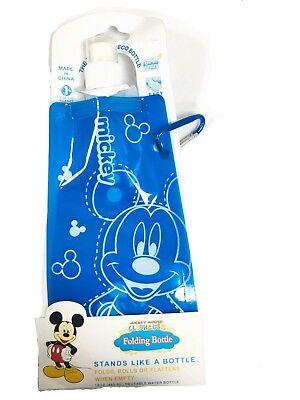 Radient Mickey Mouse Folding Water Bottle Boys Girls Sport Bpa Free Bag + Carabiner Hook Eine GroßE Auswahl An Waren