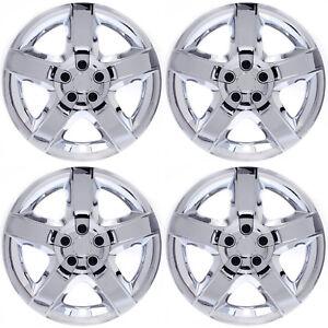 4PC-Hub-Caps-Fits-SATURN-AURA-CHEVY-MALIBU-PONTIAC-G6-17-034-CHROME-Wheel-Covers