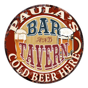 CWBT0095-PAULA-039-S-BAR-N-TAVERN-Sign-Mother-039-s-Day-Christmas-Gift-For-Woman