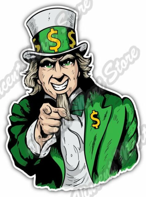 "Uncle Sam Tax USA United States Of America Car Bumper Vinyl Sticker Decal 4/""X5/"""