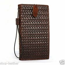 genuine leather Case for Samsung Galaxy Note Edge book wallet cover luxury brown