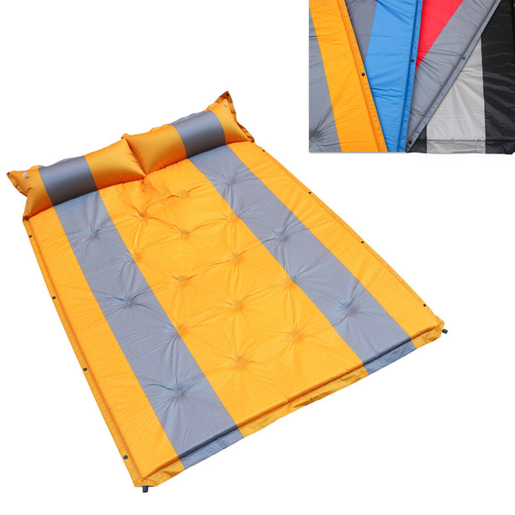 HI- Self Inflating Bed Camping Mat Airbed Pad Sleeping Mattress Bag 2 Person New