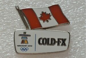 VANCOUVER-2010-OLYMPIC-GAMES-COLD-FX-SPONSOR-PIN-PINBACK-EPINGLETTE