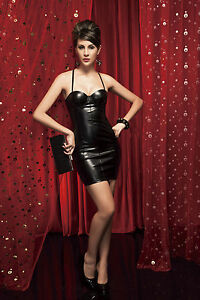 sexy women lingerie black pvc faux leather basque corset