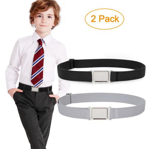 "Details about  /1-4 PACK Kids Adjustable Elastic Belt Easy Magnetic Buckle Fit Pant Size16/""-26/"""
