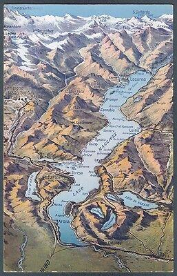 Cartina Geografica Del Lago Maggiore.Verbania Lago Maggiore 23a Cartina Geografica Cartolina Ebay
