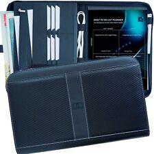 Padfolio Organizer Pu Leather Portfolio Folder Zippered Binder Card Holder