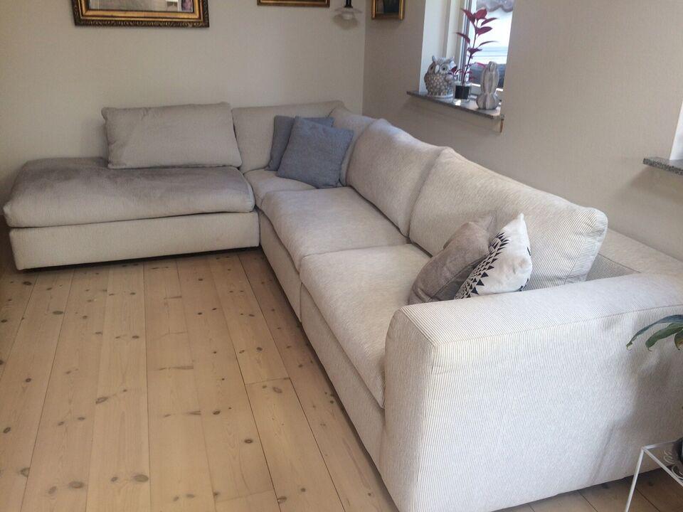 Sofa, stof, 7 pers.