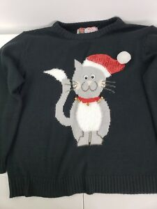Ugly Christmas Sweater Cat.Details About Women S Ugly Christmas Sweater Cat Xl