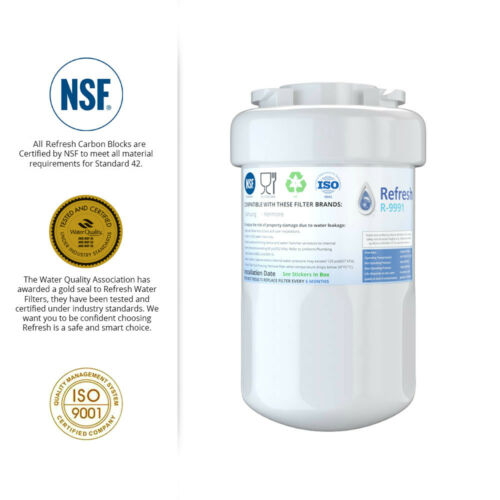 Refresh Replacement Water Filter 2Pack Fits GE HSS25GFTAWW Refrigerators