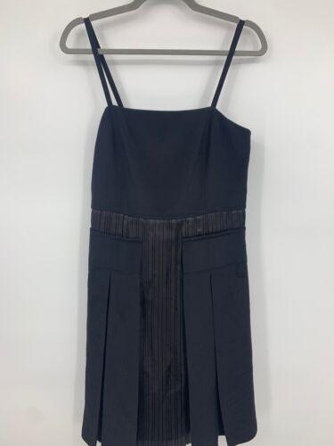 Derek Lam dress 6 silk black pleated sundress spag