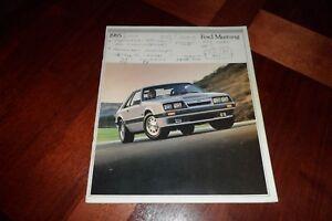 1985 Ford Escort LX GL L GT Turbo GT Dealer Sales Brochure NOS