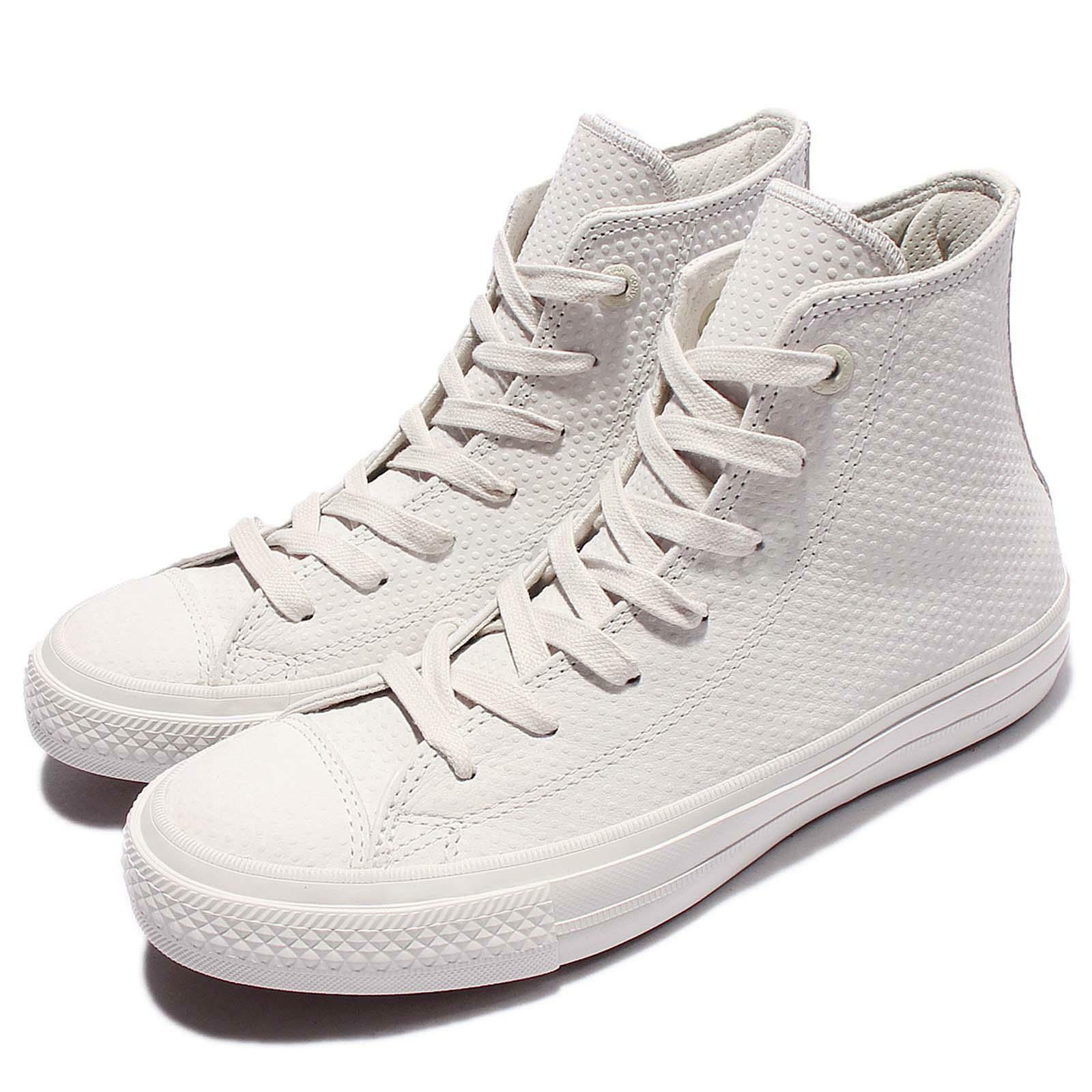 Converse Chuck Taylor All Star II Leather Grey White Men Shoes Sneakers 155763C
