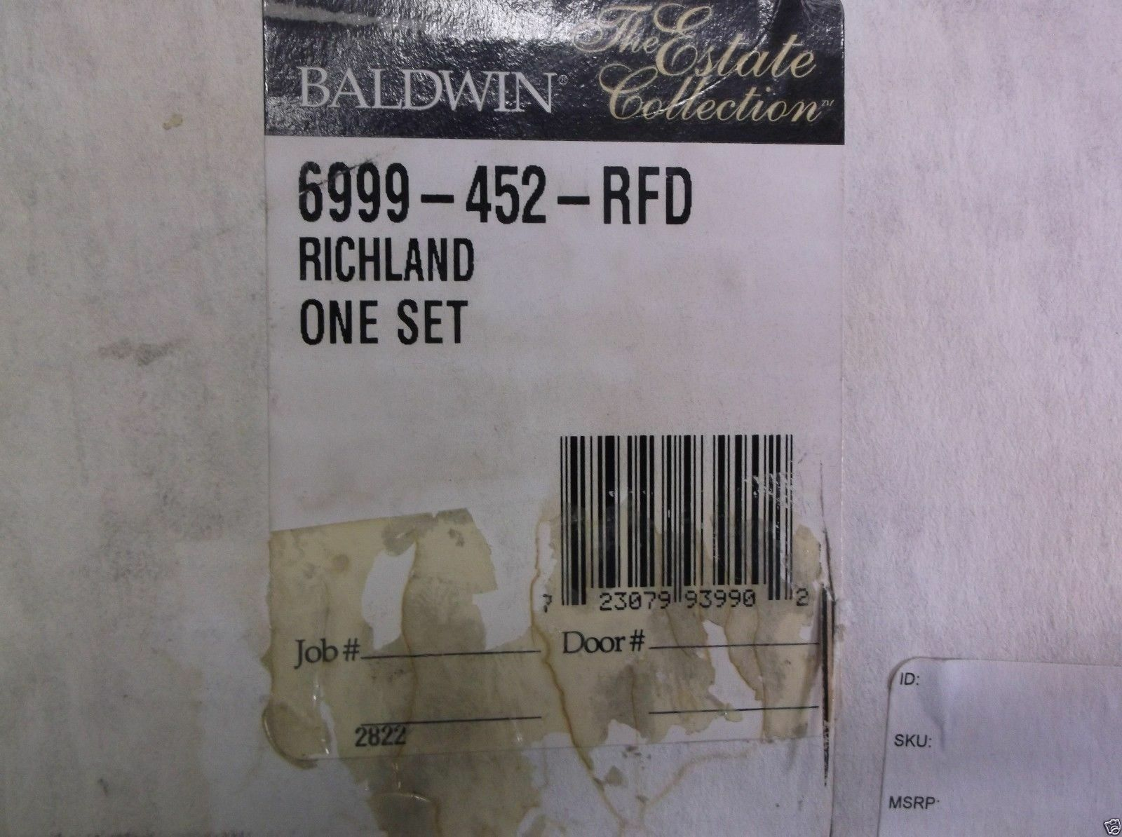 New Baldwin Richlan Trim Set 6999-452-RFD 6999-452-RFD 6999-452-RFD