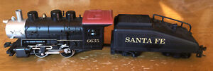 6635-Santa-Fe-0-4-0-Steam-Locomotive-and-Tender-Box-Model-Power-Pre-owned-Runs