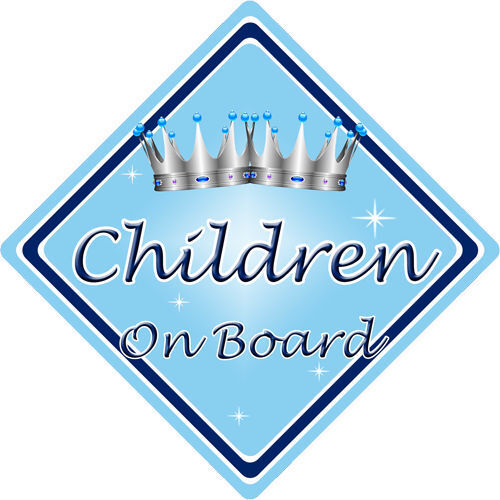 Non Personalised Child//Baby On Board Car Sign ~ Children On Board ~ L.Blue