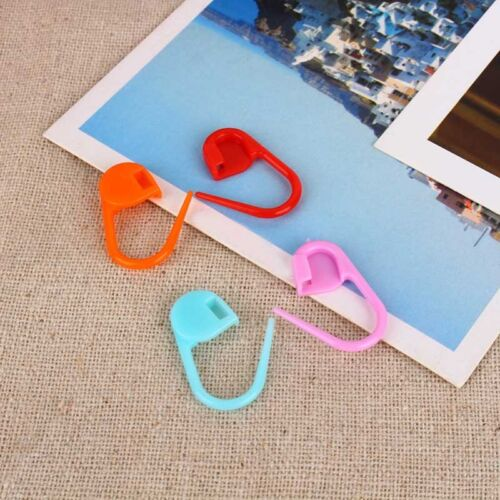100pcs Knitting Crochet Locking Stitch Needle Clip Markers Holder Mixed Colors