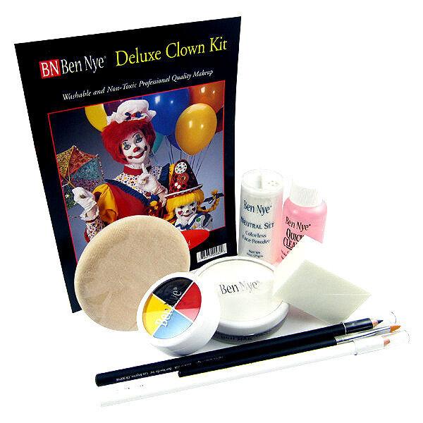 Mehron Complete Clown Student Makeup Kit Set Professional ~ Easy Instructions