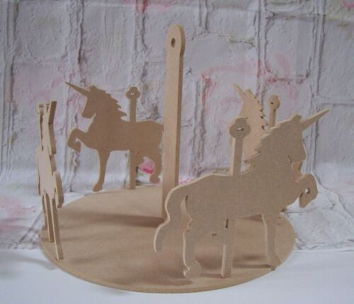 Carrousel Licorne Kit Craft Blanc 4 mmthick MDF
