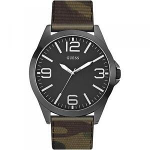 0263d14ccd3d La imagen se está cargando Reloj-De-Hombre-GUESS-W0181G5-Camouflaje-Militar- Cuero-