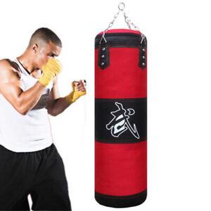 US STOCK Heavy Boxing Punching Bag Training Speed Set Kicking MMA Workout Empty