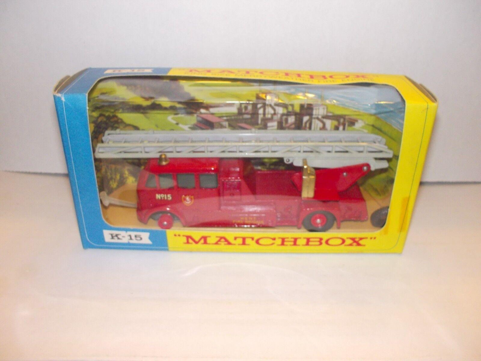 Vintage Matchscatola re Dimensione Jumbo Merryweather Fire Engine NIB K15 K-15 w  scatola