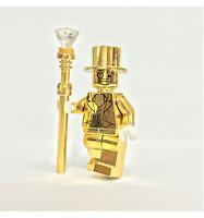 Mr. Gold Minifigure Mini-figure Compatible With Lego