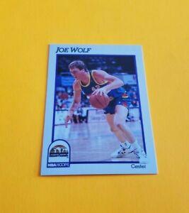 1991/92 Hoops Basketball Joe Wolf Card #57***Denver Nuggets***