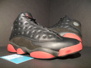 295a14422c1 Nike Air Jordan XIII 13 Retro BLACK GYM RED DIRTY BRED PLAYOFF ...