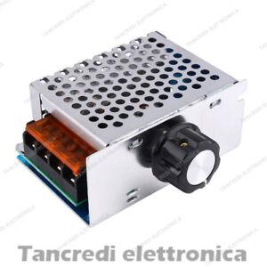 Driver AC 4000W 220V 230V Dimmer regolatore di velocità giri tensione 4KW